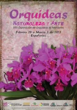 Afiche-VIII-Exposicion-Orquideas-Manizales-2013