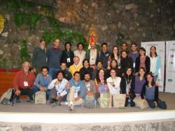Grupo de ornitólogos colombianos en el congreso en Cusco