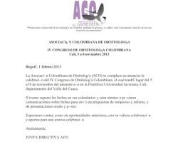 IVCongresoOrnitologiaColombiana2013